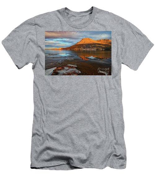 Sunlight On The Flatirons Reservoir Men's T-Shirt (Athletic Fit)
