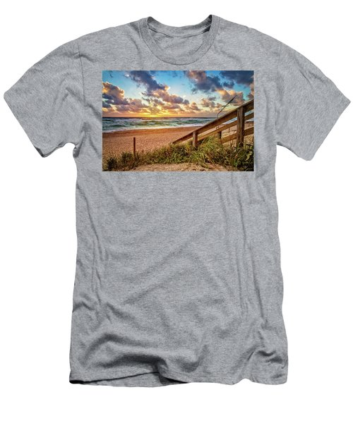 Men's T-Shirt (Slim Fit) featuring the photograph Sunlight On The Sand by Debra and Dave Vanderlaan