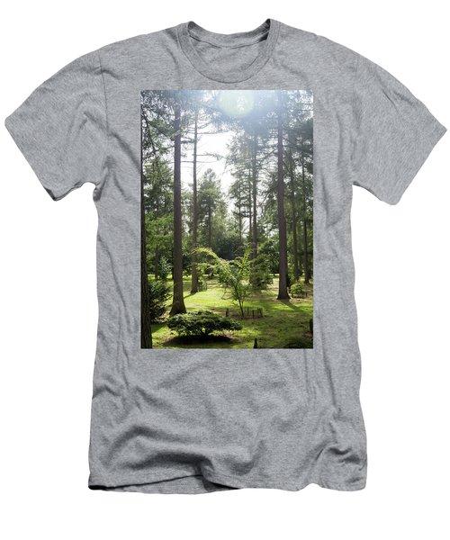 Sunlight Through The Trees Men's T-Shirt (Slim Fit) by Scott Lyons