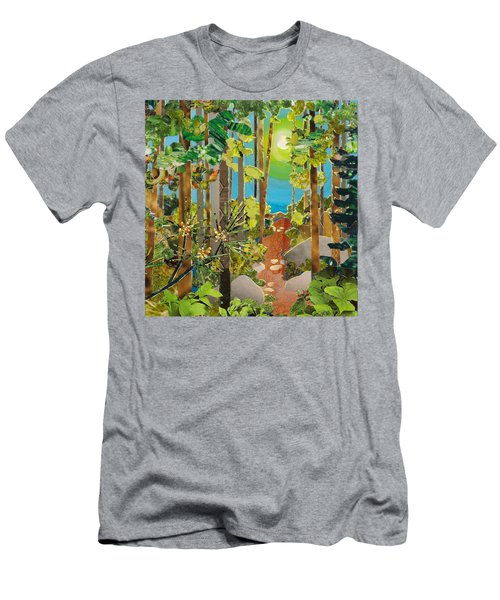 Sunlit Path Men's T-Shirt (Athletic Fit)