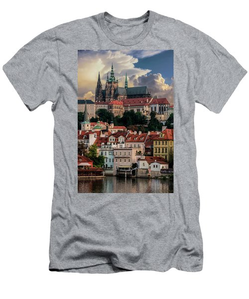 Men's T-Shirt (Athletic Fit) featuring the photograph Sunny Afternoon In Prague by Jaroslaw Blaminsky
