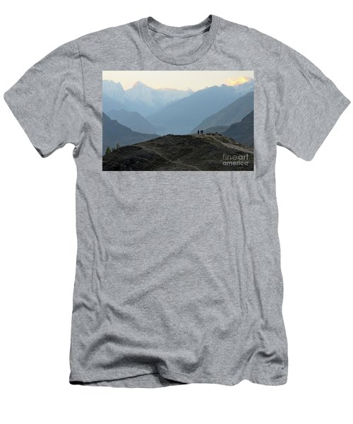 Sunrise Among The Karakoram Mountains In Hunza Valley Pakistan Men's T-Shirt (Athletic Fit)