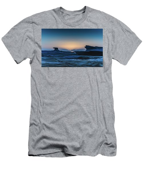 Sunrise And Rock Platform Landscape Men's T-Shirt (Athletic Fit)