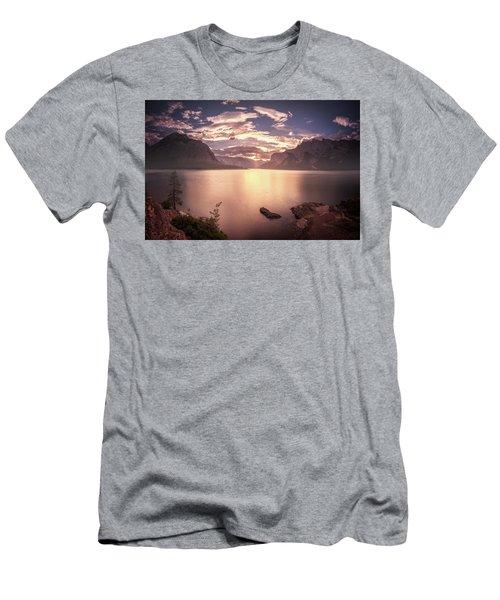 Sunrise At Lake Minnewanka Men's T-Shirt (Athletic Fit)