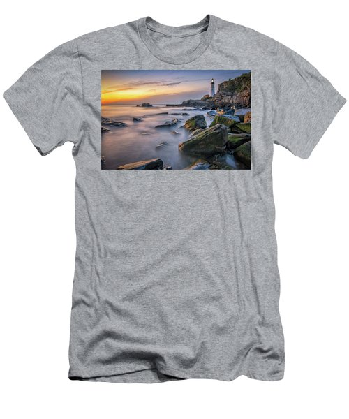 Sunrise At Portland Head Light Men's T-Shirt (Athletic Fit)
