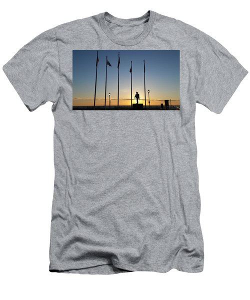 Sunrise At The Firefighters Memorial Men's T-Shirt (Athletic Fit)
