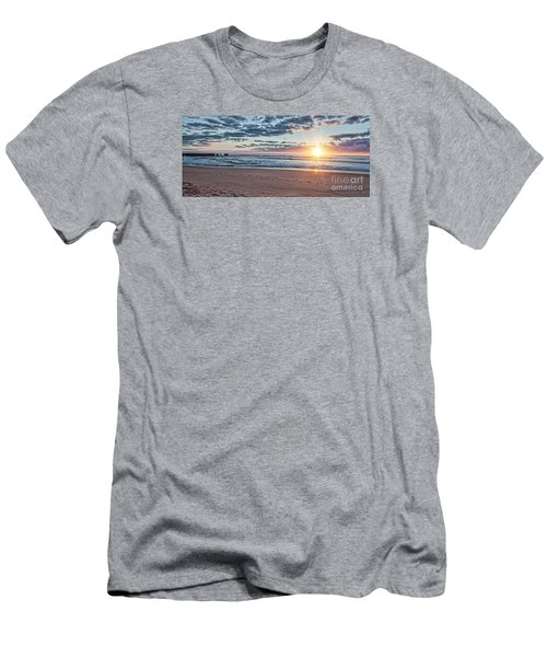 Sunrise At The Outer Banks Men's T-Shirt (Slim Fit) by Laurinda Bowling