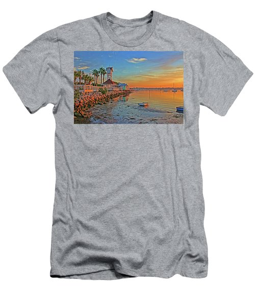 Sunrise At The Pier Men's T-Shirt (Athletic Fit)