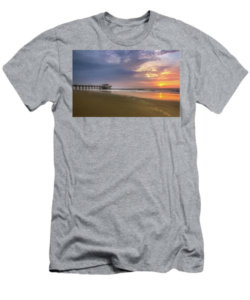Sunrise At Tybee Island Pier Men's T-Shirt (Athletic Fit)