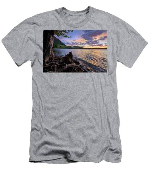 Men's T-Shirt (Slim Fit) featuring the photograph Sunrise At Waterton Lakes by Dan Jurak