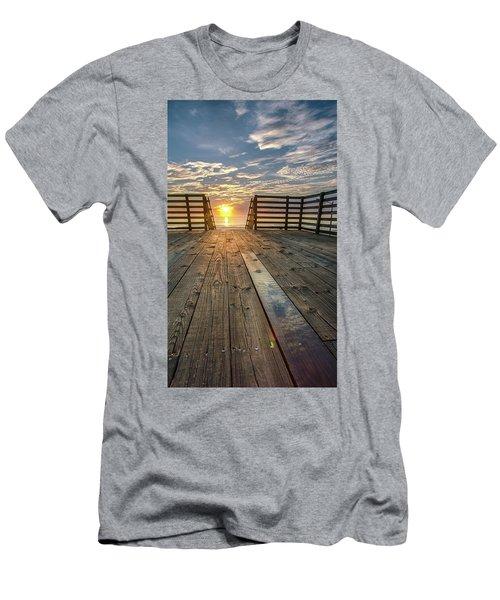Sunrise Boardwalk Men's T-Shirt (Athletic Fit)
