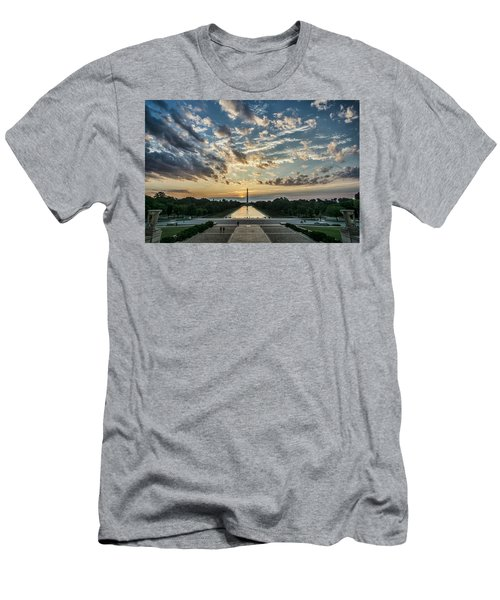 Sunrise From The Steps Of The Lincoln Memorial In Washington, Dc  Men's T-Shirt (Athletic Fit)