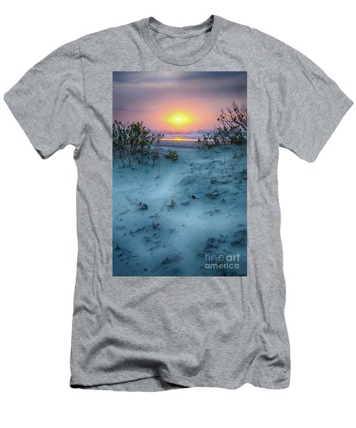 Sunrise Hike On The Outer Banks Ap Men's T-Shirt (Slim Fit) by Dan Carmichael