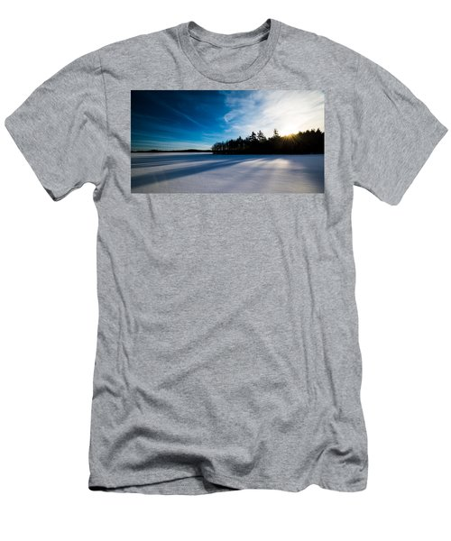 Sunrise In Winter Men's T-Shirt (Athletic Fit)