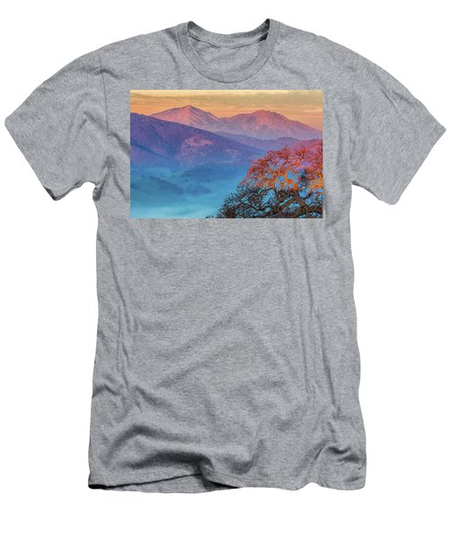Sunrise Light On Mt. Diablo Men's T-Shirt (Athletic Fit)