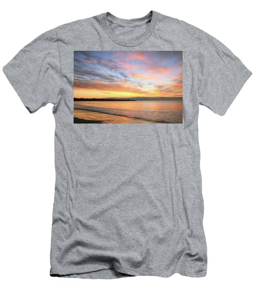Men's T-Shirt (Slim Fit) featuring the photograph Sunrise On Middletown Rhode Island by Roupen  Baker