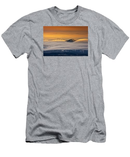 Men's T-Shirt (Athletic Fit) featuring the photograph Sunrise On The Blue Ridge Parkway by Ken Barrett