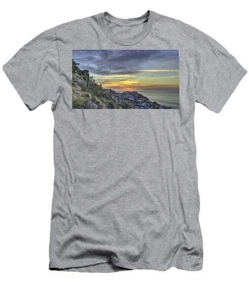 Sunrise On The Coast Men's T-Shirt (Athletic Fit)