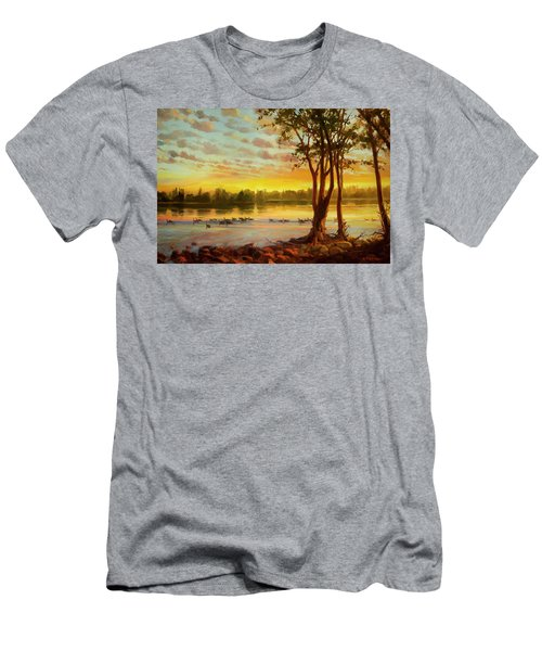 Sunrise On The Columbia Men's T-Shirt (Athletic Fit)