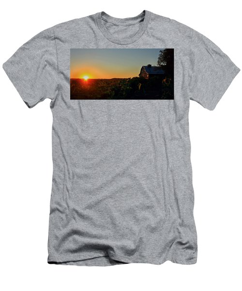 Men's T-Shirt (Slim Fit) featuring the photograph Sunrise On The Farm by Chris Berry