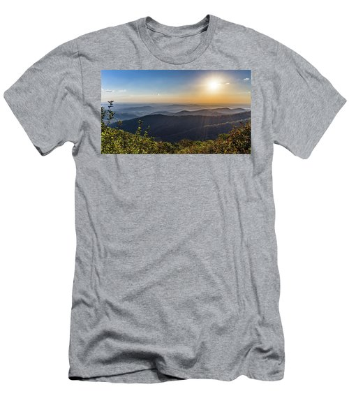 Men's T-Shirt (Athletic Fit) featuring the photograph Sunrise Over The Misty Mountains by Lori Coleman