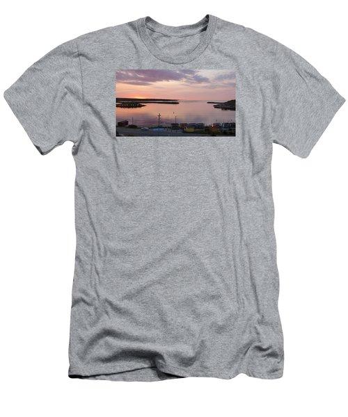 Sunrise Port Aux Basque, Newfoundland  Men's T-Shirt (Slim Fit)