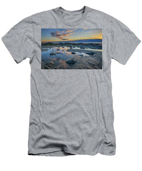 Men's T-Shirt (Slim Fit) featuring the photograph Sunrise Reflections On Wells Beach by Rick Berk