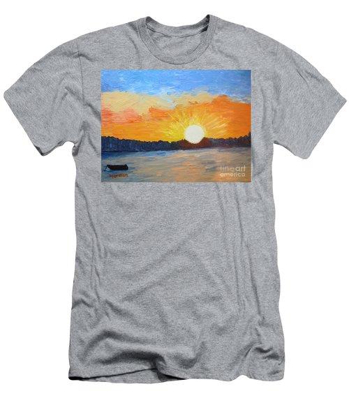 Sunrise At Pine Point Men's T-Shirt (Athletic Fit)