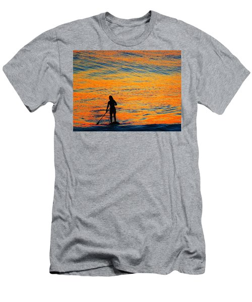 Sunrise Silhouette Men's T-Shirt (Slim Fit) by Kathy Long