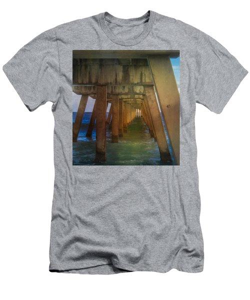 Sunrise Under The Pier Men's T-Shirt (Athletic Fit)