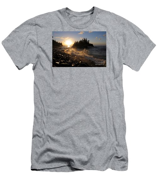Men's T-Shirt (Slim Fit) featuring the photograph Sunrise Waves by Sandra Updyke