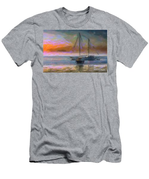 Sunrise With Boats Men's T-Shirt (Athletic Fit)
