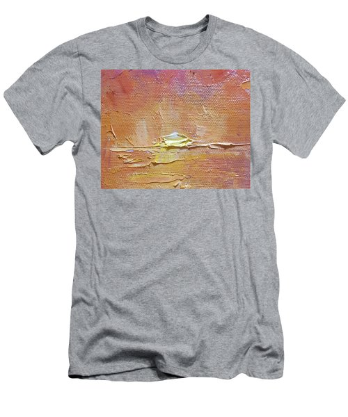 Sunset - Abstract Sun Setting Over The Ocean Men's T-Shirt (Athletic Fit)