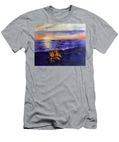 Sunset, Angola On The Lake Men's T-Shirt (Athletic Fit)