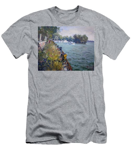 Sunset At An Abandoned Dock Men's T-Shirt (Athletic Fit)