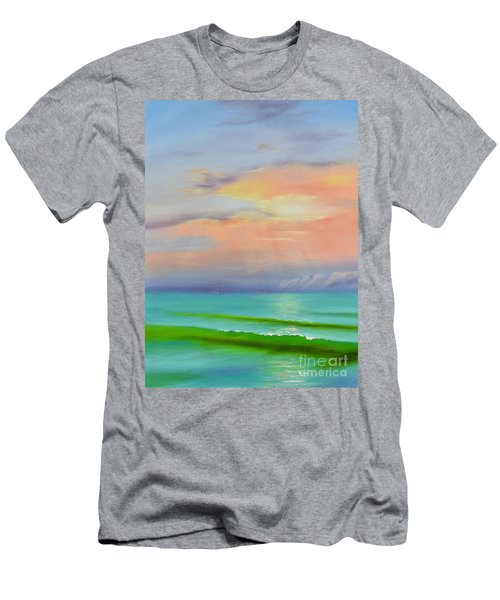 Men's T-Shirt (Athletic Fit) featuring the painting Sunset At Dana Point  by Mary Scott