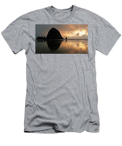 Sunset At Haystack Rock Men's T-Shirt (Athletic Fit)