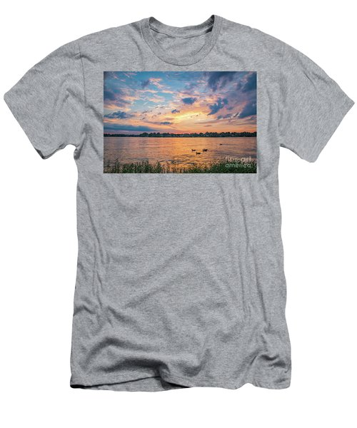Sunset At Morse Lake Men's T-Shirt (Athletic Fit)