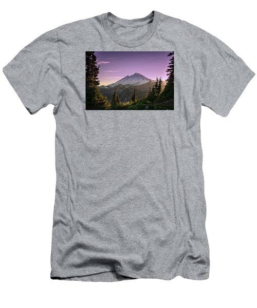 Sunset At Mt. Baker Men's T-Shirt (Athletic Fit)