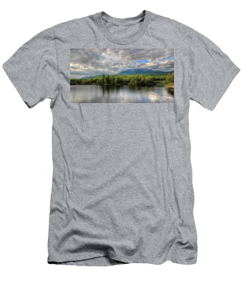 Sunset At Mt. Katahdin Men's T-Shirt (Athletic Fit)
