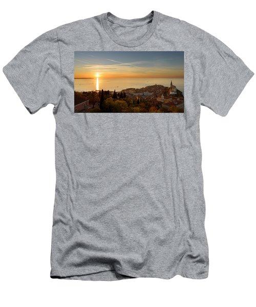 Sunset At Piran Men's T-Shirt (Athletic Fit)