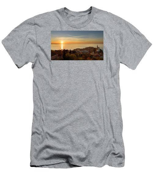 Sunset At Piran Men's T-Shirt (Athletic Fit)