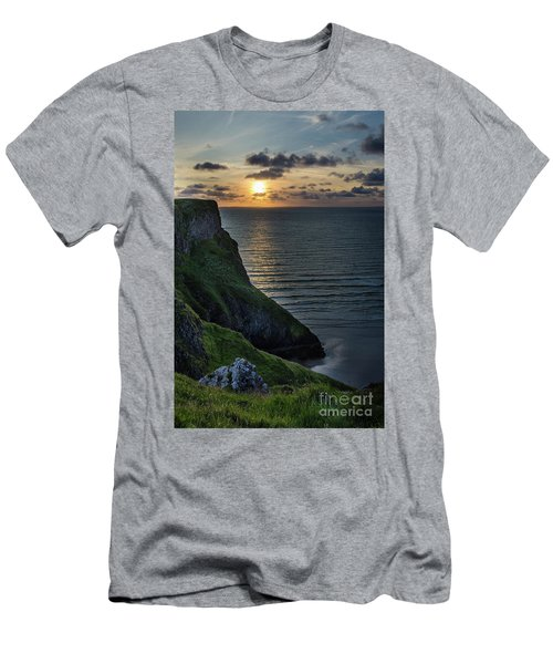 Sunset At Rhossili Bay Men's T-Shirt (Athletic Fit)