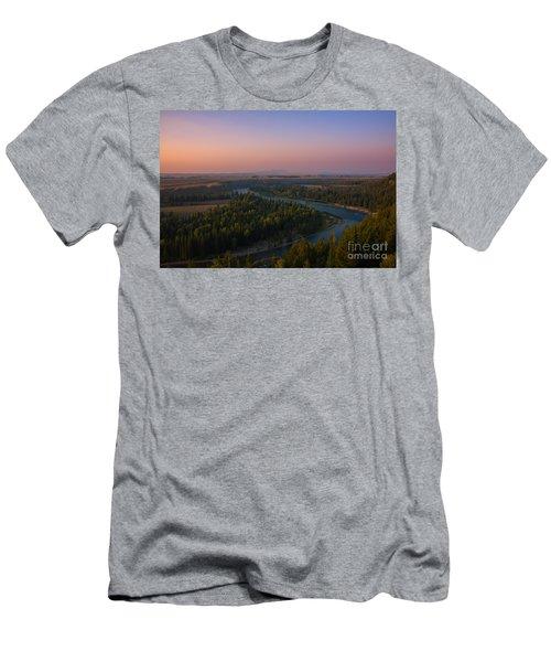 Sunset At Snake River Men's T-Shirt (Athletic Fit)