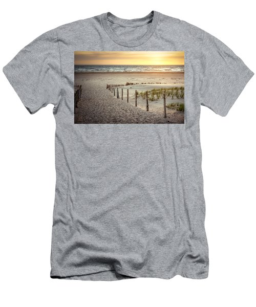 Men's T-Shirt (Slim Fit) featuring the photograph Sunset At The Beach by Hannes Cmarits