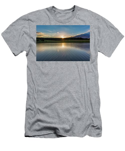 Sunset At The Mandelholz Dam, Harz Men's T-Shirt (Athletic Fit)