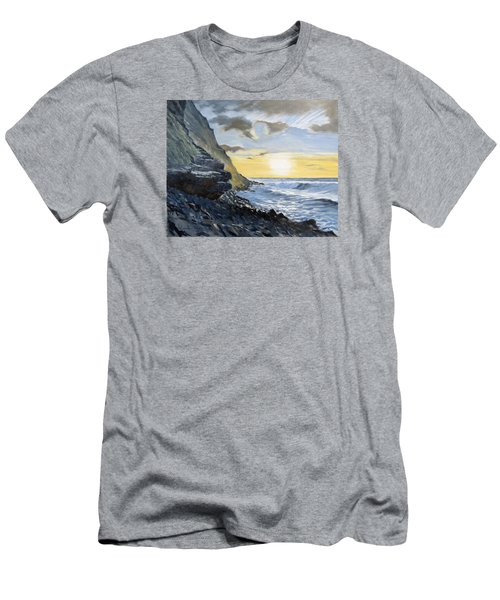 Sunset At Warren Point Duckpool Men's T-Shirt (Athletic Fit)