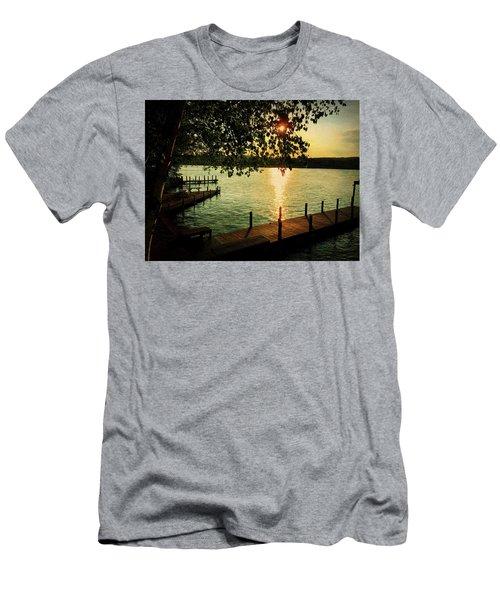 Sunset Bay Men's T-Shirt (Athletic Fit)