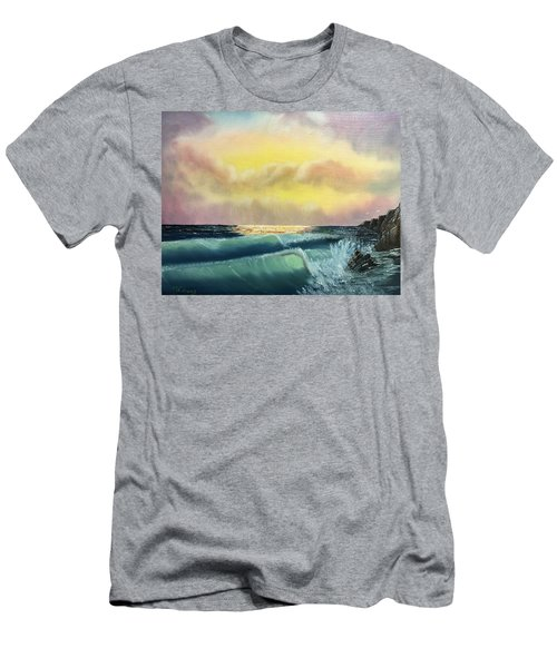 Sunset Beach Men's T-Shirt (Slim Fit) by Thomas Janos