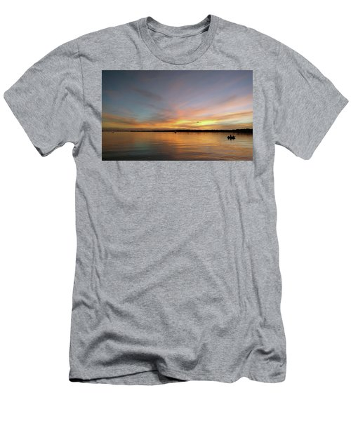 Sunset Blaze Men's T-Shirt (Athletic Fit)